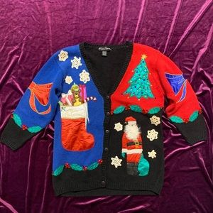 Vintage 90s Ugly Christmas Sweater